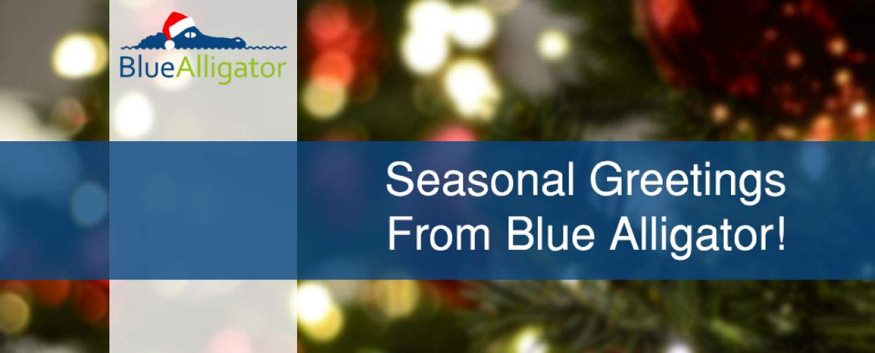 Blue Alligator sends you festive seasonal greetings