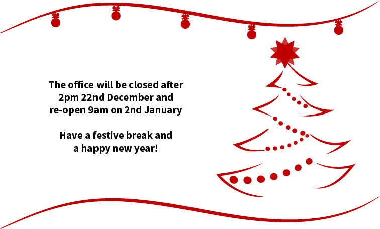Opening Times For The Christmas Break