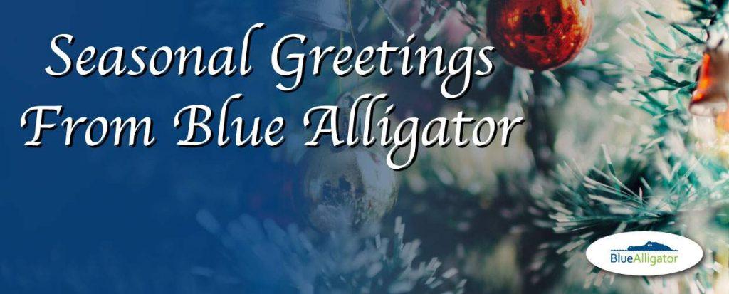 Blue Alligator sends you festive greetings