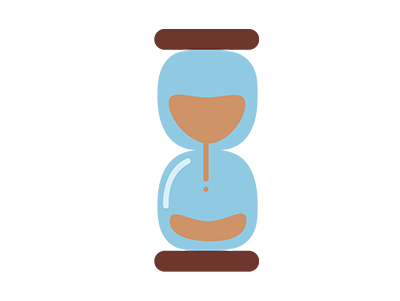 Blue Alligator timer icon