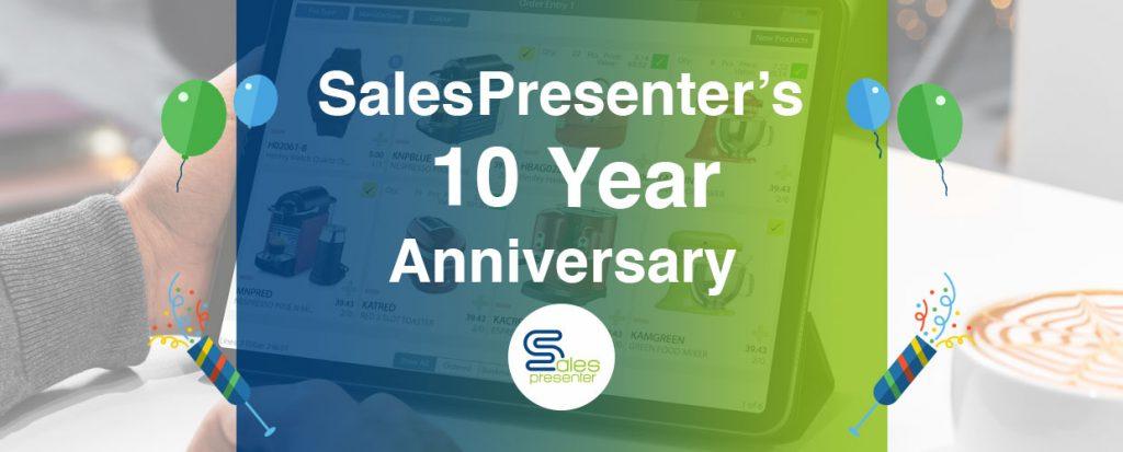 SalesPresenter: 10 year anniversary